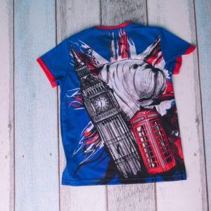 T-shirt dziecięcy niebieski